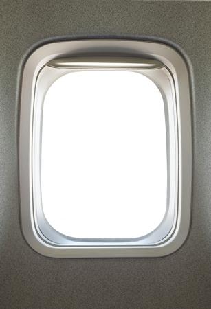 Empty airplane glass window Zdjęcie Seryjne