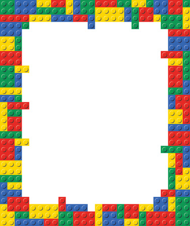 Frame Brick border Background Template Pattern in vector format.