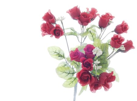 Bunch of small Red Roses on Stems Stock Photo