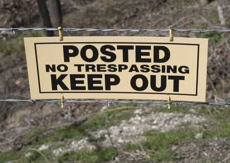 Posted-No Trespassing-Keep Out Sign