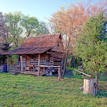 Log Cabin in the Woods photo