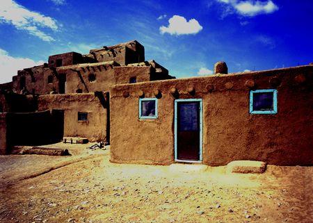 Indian Pueblo Building at Taos New Mexico