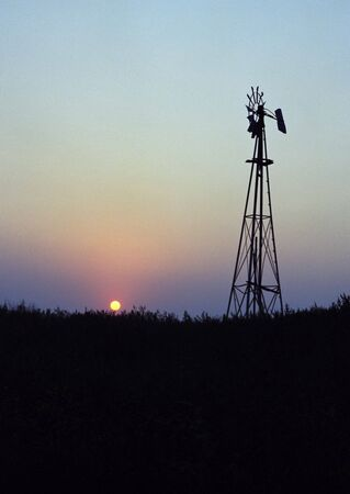Old Windmill with beautiful sunset