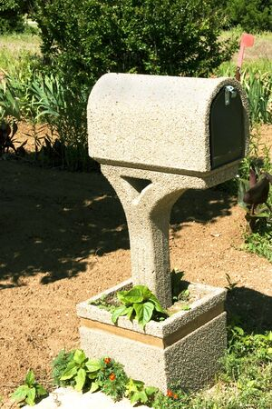 Country Cement Mail Box