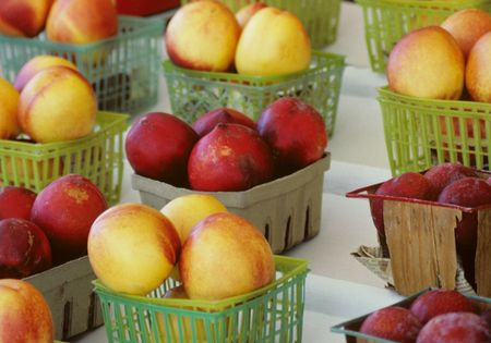 Baskets of Fruit Stock Photo