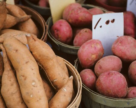 Sweet and New Potatoes