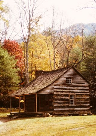 Log Cabin in Tennesse  Stock Photo