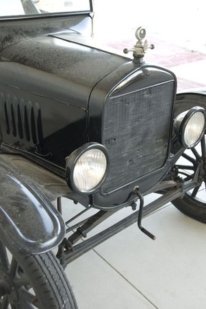 Front of Antique Car Stock Photo
