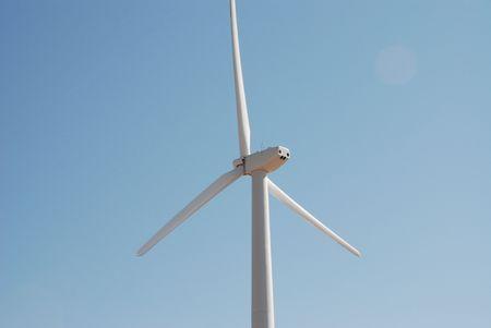 Close-up of wind turbine