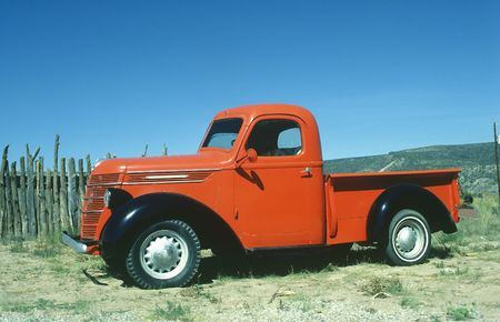 Full Side view of classic pickup truck Stock Photo - 8231964
