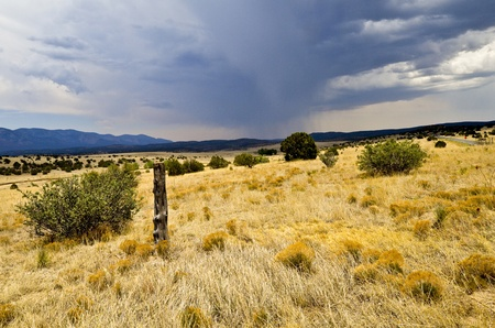 Rainstorm in New Mexico on the prarie