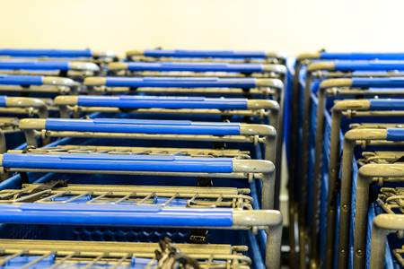 Rows of Grocery Carts
