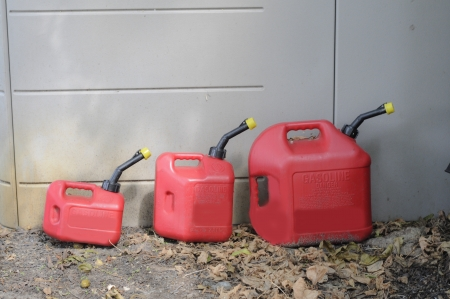 Three Gas Cans_Conceptual- Contantly fluxuating gas prices