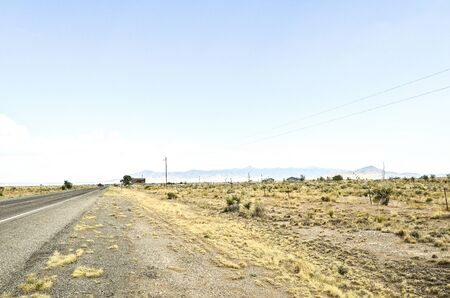 Landscape of highway alone disolate flat land