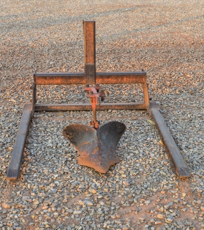 Closeup of antique plow Stock Photo