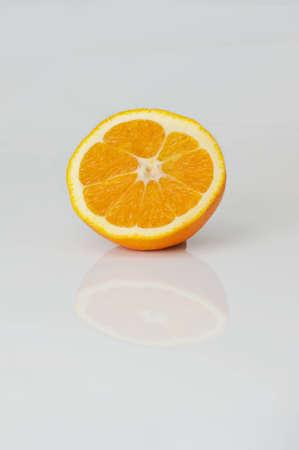 Fresh orange extreme close up photo