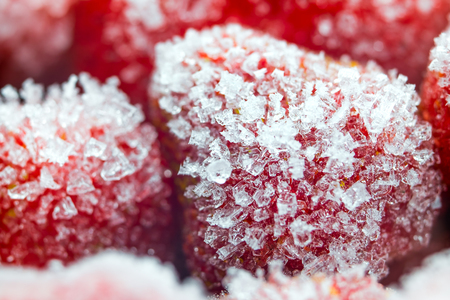 Frozen strawberry closeup. The concept of healthy eating. Banque d'images - 119947167