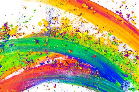Natural colored pigment powder. Art concept .