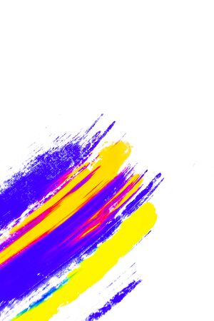 Abstract background of colorful pigment on white background.