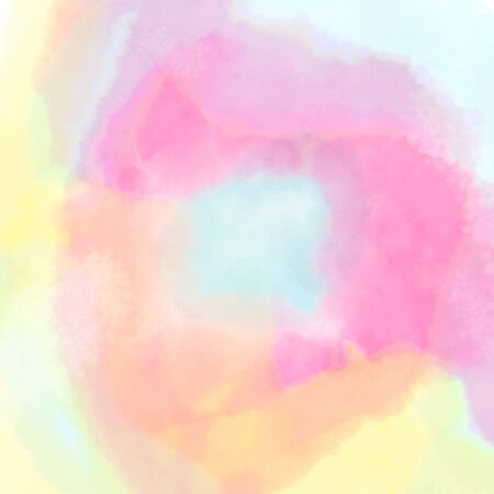 Watercolor abstract background, splashed paint, flow from one color to another, place for your design.