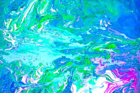 Acrylic paint . Abstract art background,fluid acrylic painting on canvas. Backdrop blue, pink, mint color for your design . Reklamní fotografie