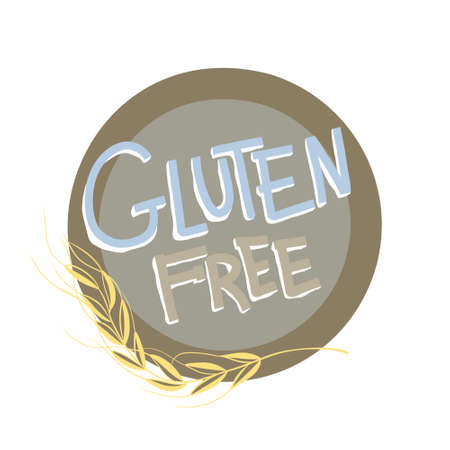 Creative and modern promotional banner with text- gluten free. Natural product and farm freshicons .