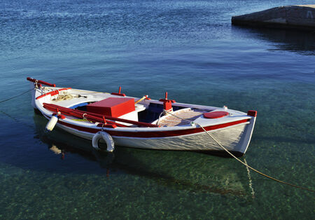 shallow water: boat in shallow water