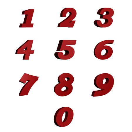 numbers: red numbers Stock Photo