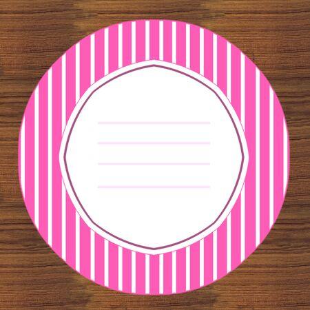 pinky: plate baby card