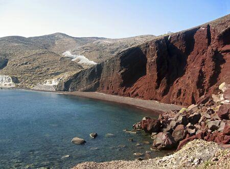 santorini island: red beach in Santorini island, Greece