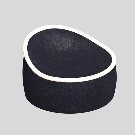 pouf: render 3D pouf chair