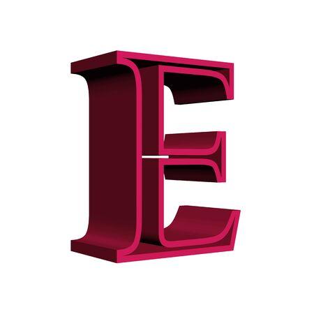 letter e: letter e Stock Photo