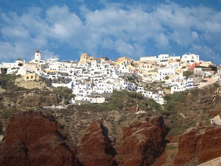 santorini island: traditional houses at Santorini island, Greece