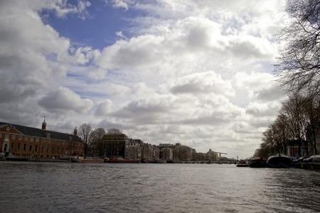 holland landscape: landscape in Amsterdam, Holland