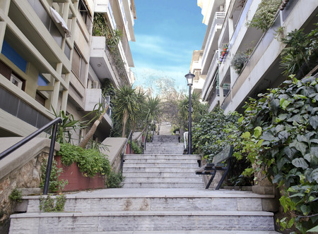 Kolonaki area in Athens Greece