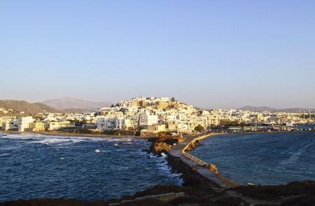 naxos: aerial view of Naxos island Greece