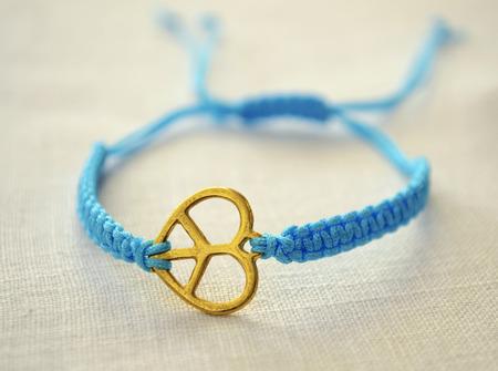 bijoux: turquoise heart bracelet Stock Photo