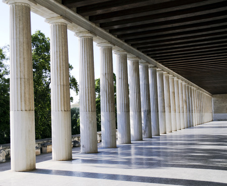 sightseeng: ancient columns in Athens Greece