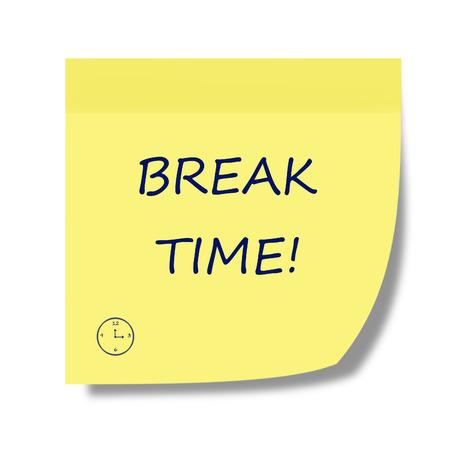 break time note photo