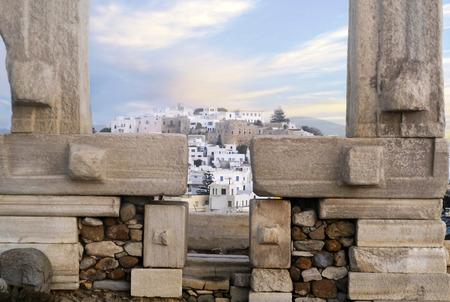 lintel: Naxos island Greece behind the Portara gate Stock Photo