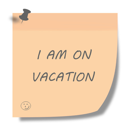 vacation note photo
