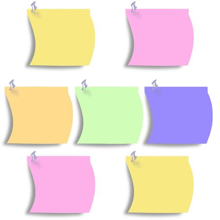 small paper: a small paper in many colors Stock Photo