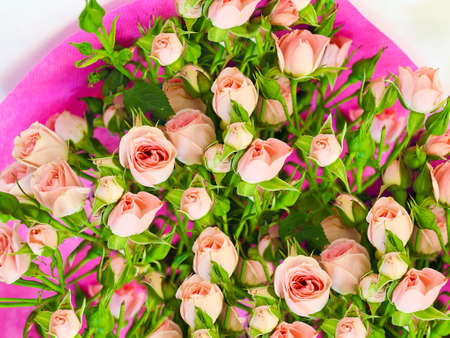 vibrance: bouquet with small pink roses