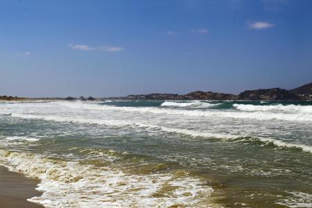 naxos: wavy sea at Naxos island Greece