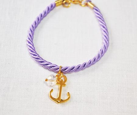 bijoux: still life of a purple bracelet Stock Photo