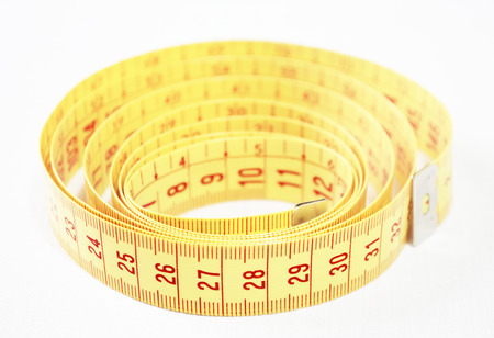 measure height: still life of a tape measure