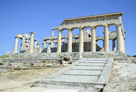 temple of Aphaia in Aegina island Greece Editöryel