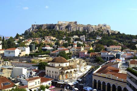 Blick auf die Akropolis in Athen Griechenland Standard-Bild
