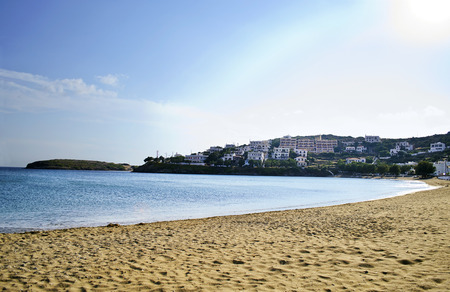 andros: Batsi beach in Andros island Greece