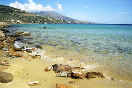 andros: Chrissi Ammos beach in Andros island Greece